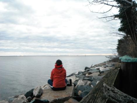 awaiting sunrise on the Chesapeake Bay