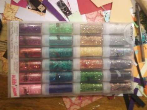 because my mom is the best she got me this awesome set of GLITTER! the possibilities are endless...