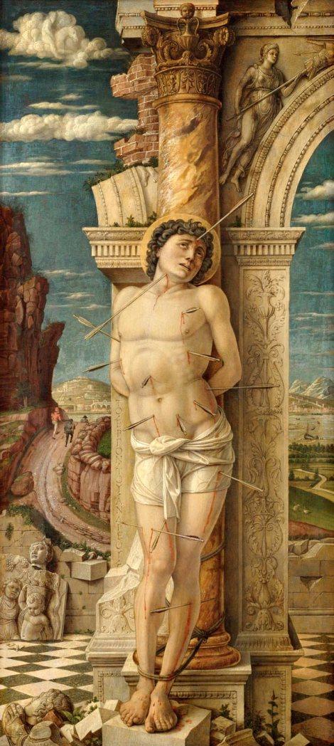"""Andrea Mantegna """"St. Sebastian"""" 1456-1459"""