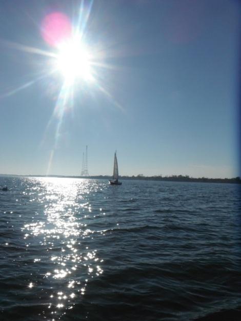 shimmering sun on the Chesapeake - (on Velocir - velocir.com)