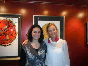 """me (left) with Chilean Artist Guadalupe Valdes at the opening of her exhibit """"Flow"""" at the GALA Hispanic Theater in Washington, D.C."""