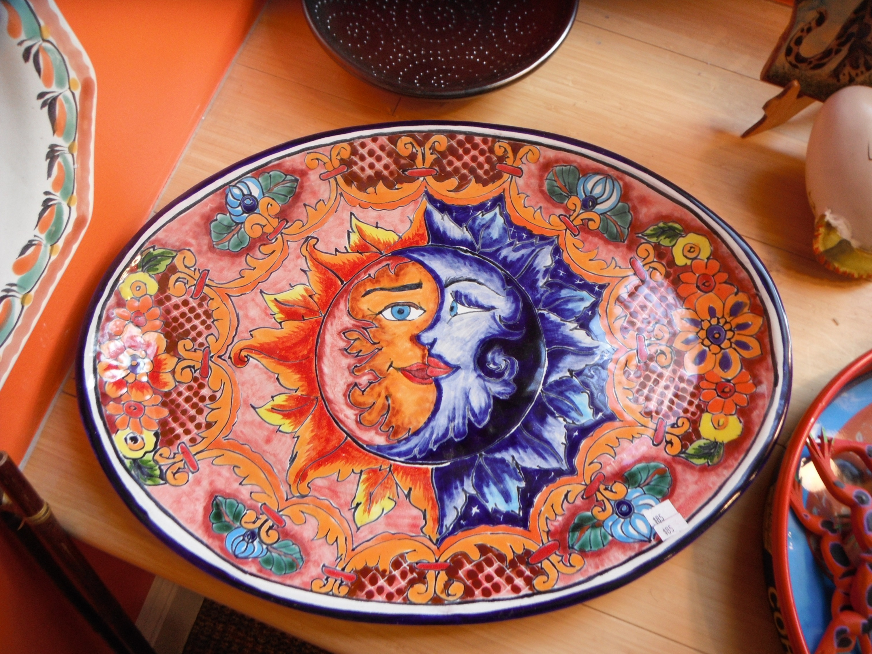 emabee inspiration sun moon painted pottery emabee 39 s art