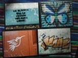 "Item#036 - four blank note cards - Guatemalan Graffiti - ""don't forget that the truth will set us free"""