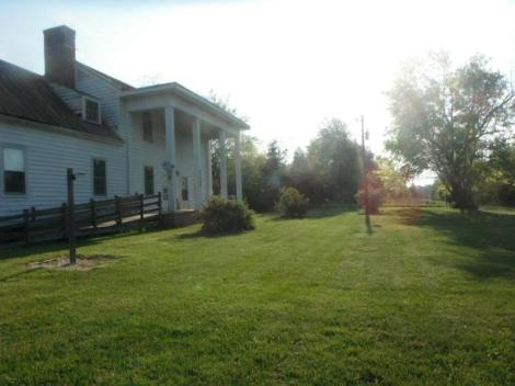 front of farm house in VA