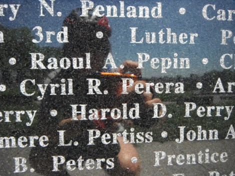Cyril R. Perera on the Maryland WWII Memorial - he served as a medic in the US Marines