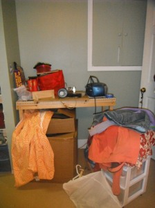 Before - when the 'creation station' was still just a casualty of the move.