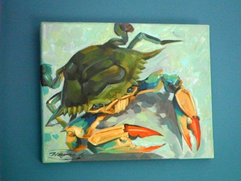 the maryland blue crab - an icon of local aquatic fauna and dining
