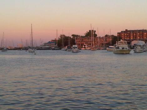 the mouth of Spa Creek, as seen from City Dock, Annapolis, Maryland