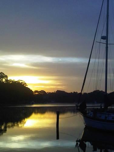 mill creek sunrise on orchard beach