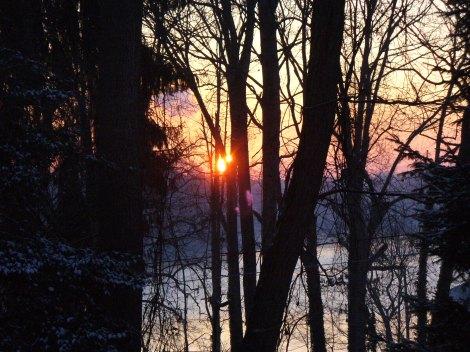 sunrise on mill creek