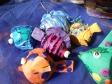 school of papier mache fish ornaments