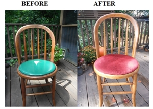 before and after chair repair