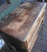 old varnish dresser top