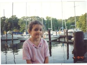 little E at the boatyard