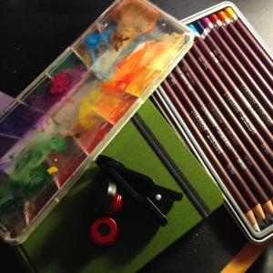 compact art supplies