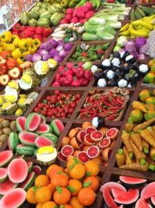 teeny tiny clay fruit and vegetables