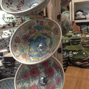 beautifully painted sink bowls