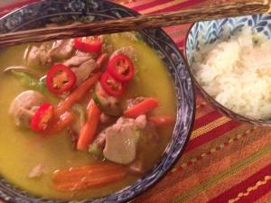 thai green curry chicken - from the test kitchen