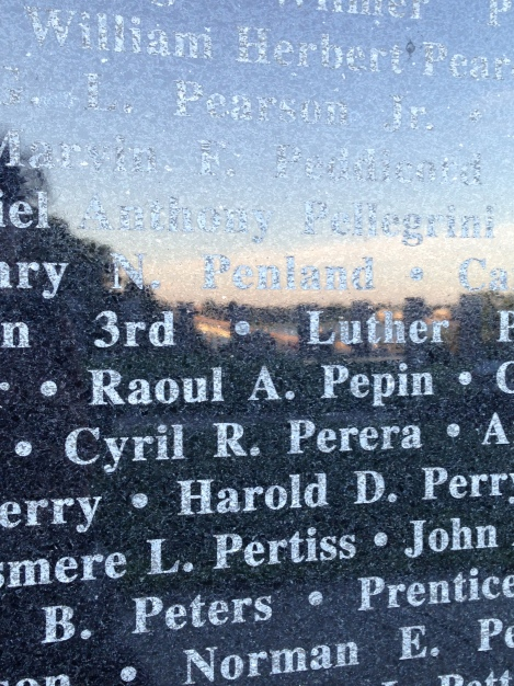 WW2 Memorial in Annapolis, Maryland. My grandmother's uncle Cyril Perera was killed in the Pacific Theater.