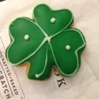 Saint Patrick's Day sugar cookie, like the ones at the little yellow bakery that used to be at the entrance to brownswoods and our orchard beach neighborhood.